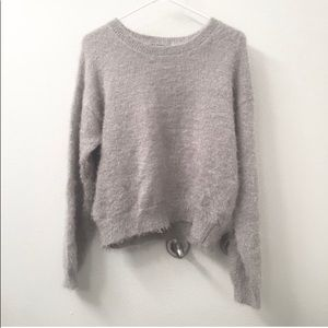 Soft Gray Fuzzy Sweater from Nordstrom